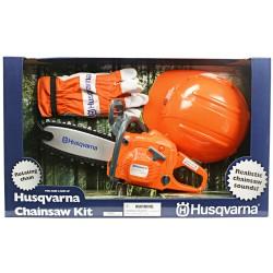 Pilarka łańcuchowa z kaskiem i rękawicami ochronnymi Husqvarna 440-zabawka