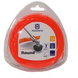 Żyłka tnąca okrągła  Husqvarna Round 2,4mm x 15m Pomarańczowa