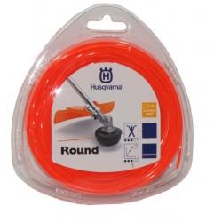 Żyłka tnąca okrągła  Husqvarna Round 2,4mm x 90m Pomarańczowa