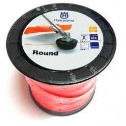 Żyłka tnąca okrągła Husqvarna Round 2,4mm x 240 m, Pomarańczowa (szpula)