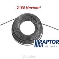 Lina RAPTOR 10mm/70m - 2160Nm/mm2 podwójnie walcowana (kowarkowana) pełnostalowa