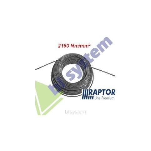 Lina RAPTOR 11mm/70m - 2160Nm/mm2 podwójnie walcowana (kowarkowana) pełnostalowa